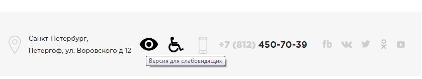 Сайт адаптирован для слабовидящих